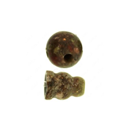 10X8mm & 10mm Autumn Jasper 3 Hole (1) & Guru (1) Beads Beads