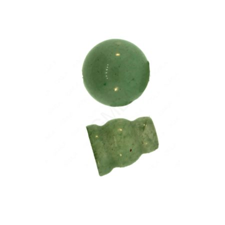 10X8mm & 10mm Green Aventurine 3 Hole (1) & Guru (1) Beads Beads