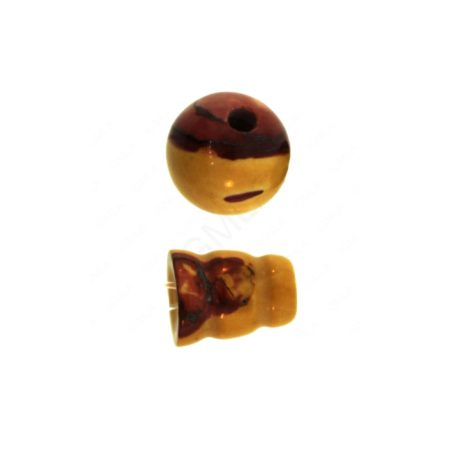 10X8mm & 10mm Mookite 3 Hole (1) & Guru (1) Beads Beads