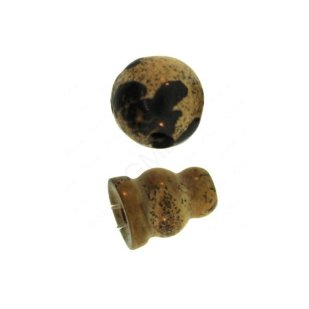 10X8mm & 10mm Paint Brush Jaspr 3 Hole (1) & Guru (1) Beads Beads