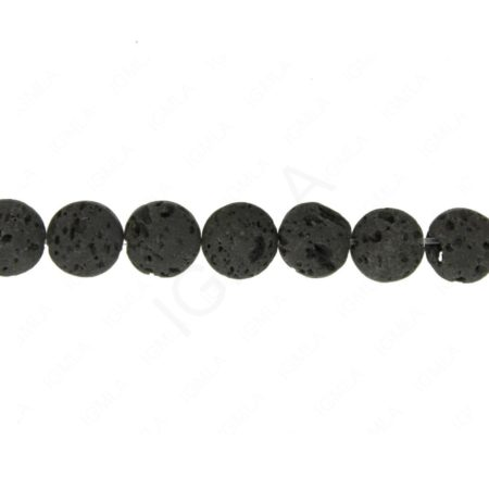 "15.5"" - 16"" 8mm Puffy Coin Lava Beads Beads"