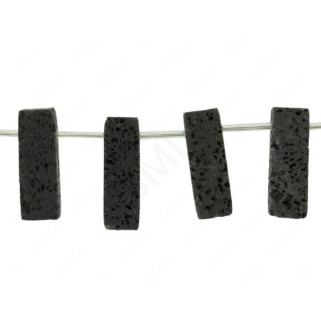 "15.5"" - 16"" 10X28mm Rectangle Side Drilled Lava Beads Beads"