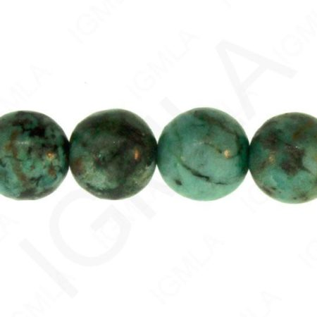 12mm African Turquoise Jasper Natural Round Beads Beads