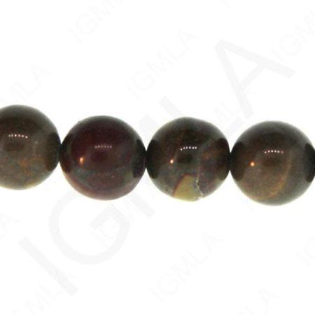 12mm Bamboo Jasper Natural Round Beads Beads