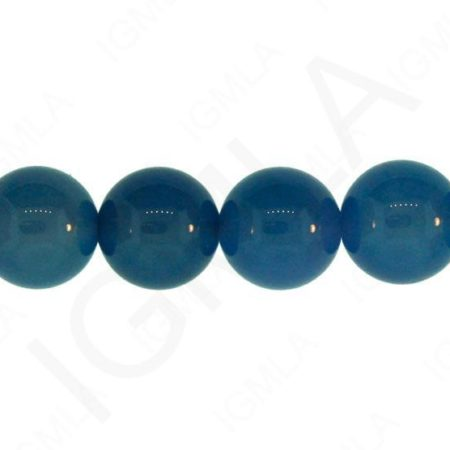 12mm Blue Agate Natural Round Beads Beads