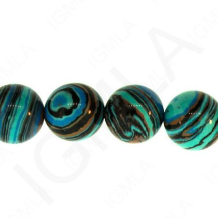 12mm Blue Calisilica Synthetic Round Beads Beads