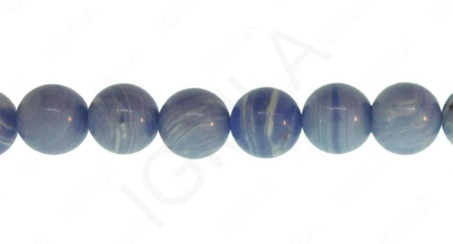 Blue Lace Calisilica Synthetic Round