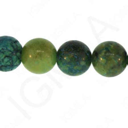 12mm Blue/Green Chrysocolla Dyed Round Beads Beads
