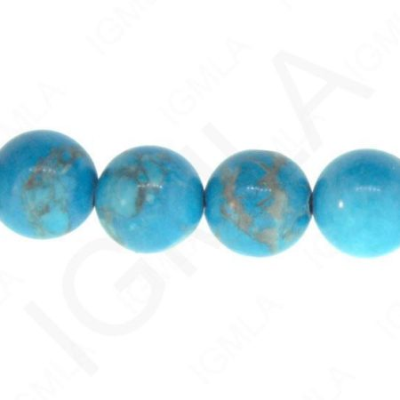 12mm Blue/Howlite Round Beads Beads