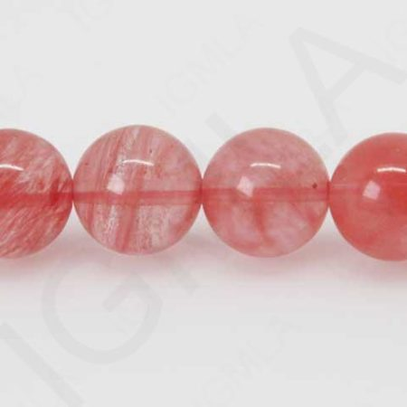 12mm Cherry Quartz Glass Round Beads Beads