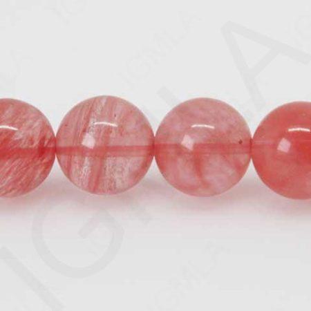 12mm Cherry Quartz Glass Round Beads Beads