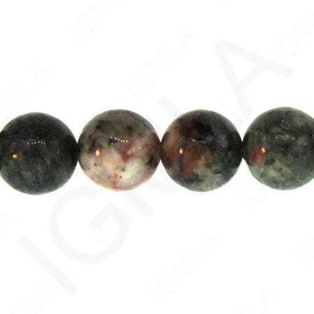 12mm Chinese Ruby & Zoisite Natural Round Beads Beads