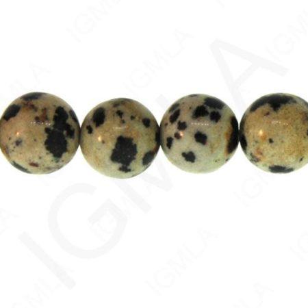 12mm Dalmatine Jasper Natural Round Beads Beads