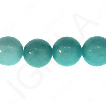 12mm Dyed Serpentine- Amazonite Round Beads Beads