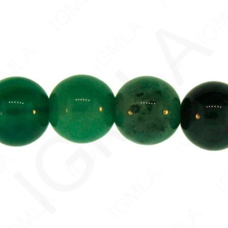 Green Agate Natural Round