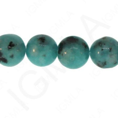 Kiwi-Tuquoise Dyed Round