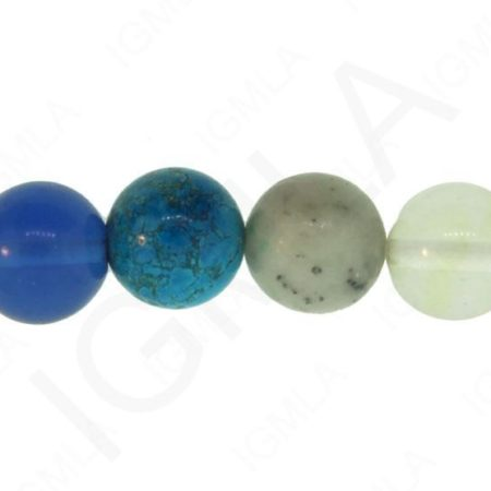 12mm Multi-Stones Natural & Synthetic Round Beads Beads