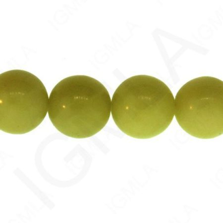 12mm Olive Serpertine Natural Round Beads Beads
