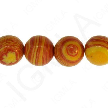 Orange Calisilica Synthetic Round
