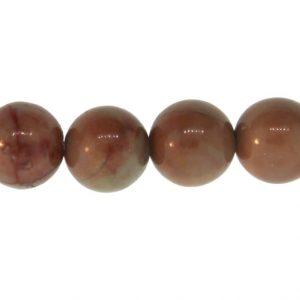 15.5″ – 16″ 10mm Rainbow Picasso Jasper Natural Plain Round Beads