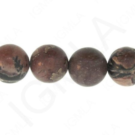 Red Picture Agate Natural Round