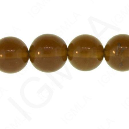 12mm Smoky Quartz Glass Round Beads Beads