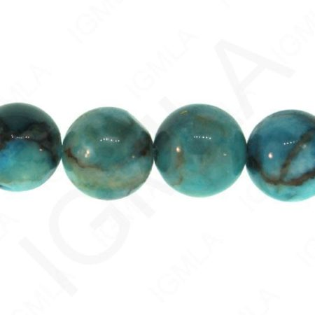 12mm Turquoise Stone Dyed Round Beads Beads