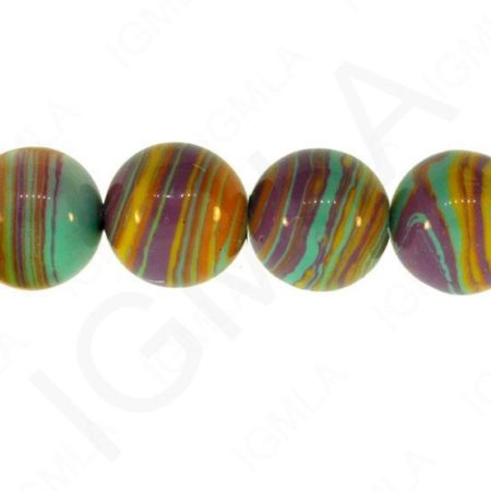 12mm Rainbow Calisilica Synthetic Round Beads Beads