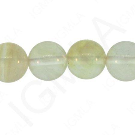 12mm Yellow Rutile Quartz Glass Round Beads Beads