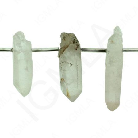 Natural Quartz Side Drilled Points Beads Beads