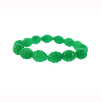 10 X 13mm Dyed Aventurine Corrugated Melon Jewelry