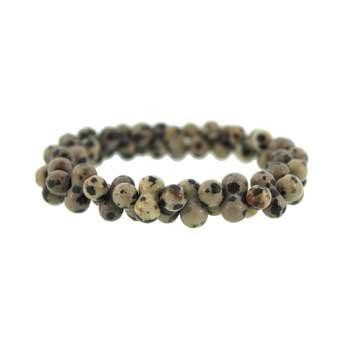 Dalmatian Jasper Peanut Bracelets