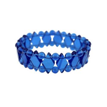 Rutilated Quartz Glass Princess Bracelets