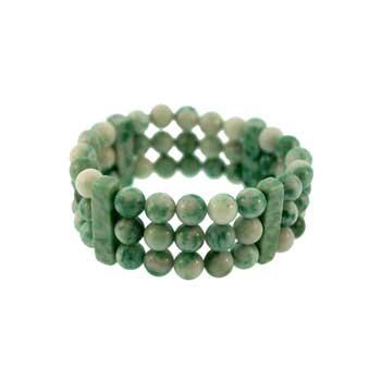 Green Spot Serpentine Queen Bracelets