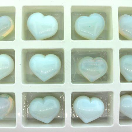 Opalite Glass Puffy Heart Gift Items