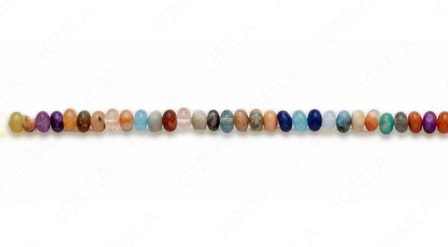 15-16″ 6mm Multi Stone Rondell Plain Beads