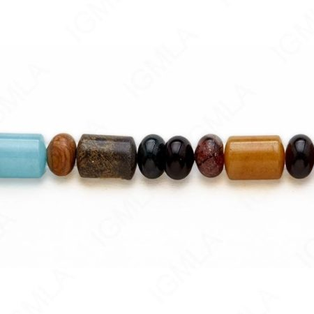 15-16″ 10m/10x14mm Multi Stone Rondell/Capsule Plain Beads