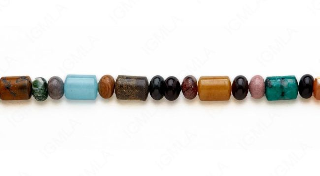 15-16″ 10m/10x14mm Multi Stone Rondell/Capsule Plain Beads