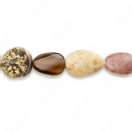 15-16″ Small Multi Stone Mix Shapes Plain Beads