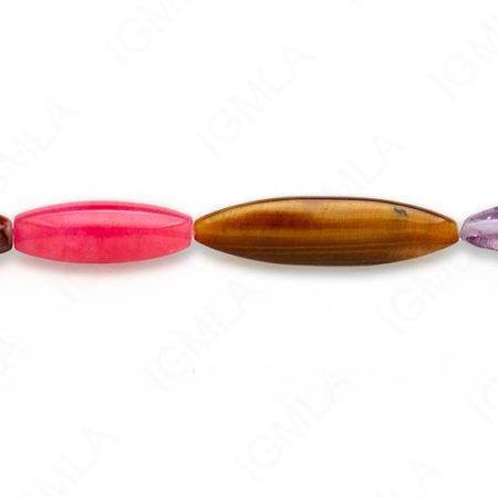 15-16″ Medium Multi Stone Mix Shapes Plain Beads