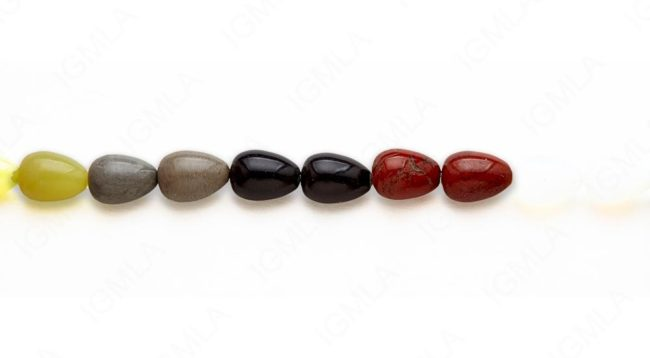 15-16″ 10X14mm Multi Stone Drop Plain Beads