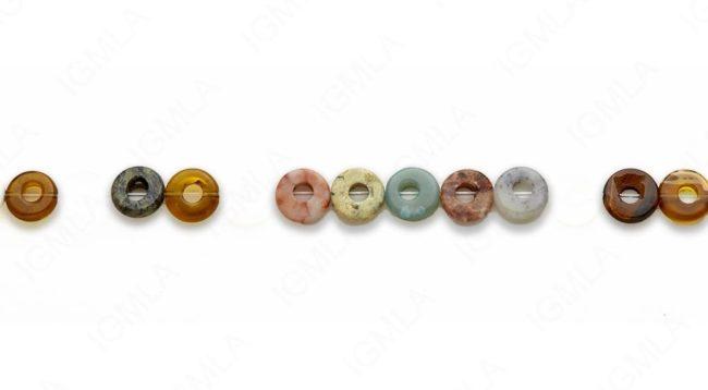 15-16″ 10mm Multi Stone Donut Plain Beads