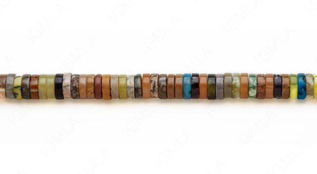 15-16″ 10X3mm Multi Stone Heishi Plain Beads