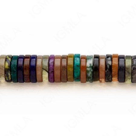 15-16″ 14X3mm Multi Stone Heishi Plain Beads
