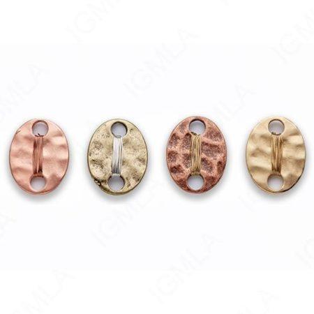 Large Zinc Alloy MattMatt Silver + Silver Wire, Gold + Gold Wire, Rose Gold + Rose Gold Wire, Burnish Silver + Gold Wire, Copper + Gold Wire, Gold + Silver Wire Rose Gold, Silver, Gold, Burnish Silver, Gold, Copper Oval Connector