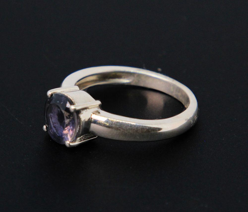 Sterling Silver, Faceted Iolite Ring