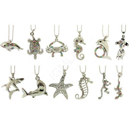 Zinc Alloy Sea Animals Necklaces