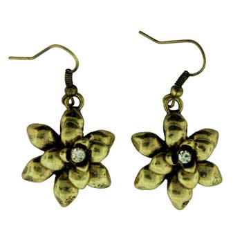 Zinc Alloy Ear. G/P Flower Earrings Jewelry