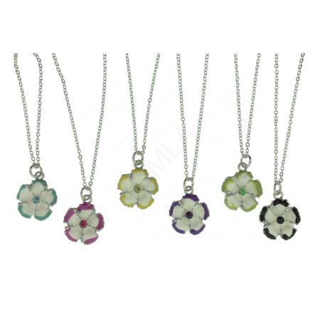 Zinc Alloy Flower Necklaces