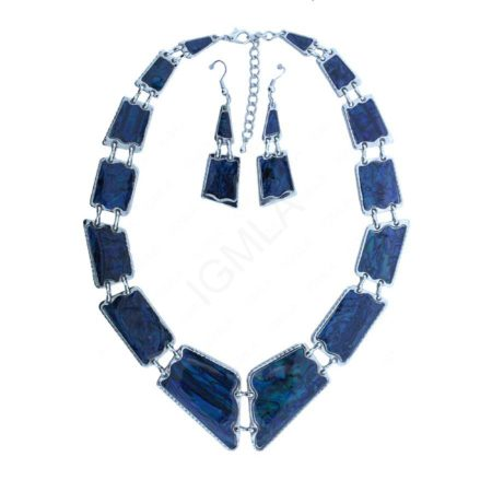 In Rectangle Shapes Deep Blue Abalone Neckl&Ear Sets Jewelry Jewelry